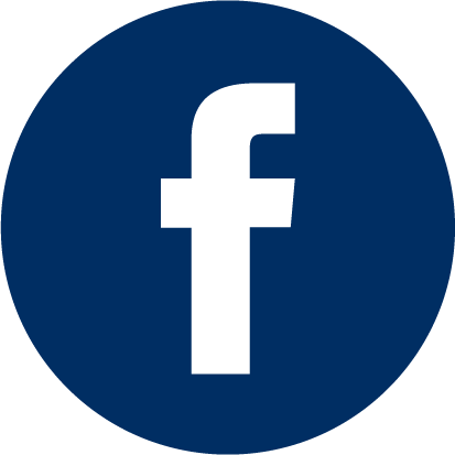 This is a small icon of the facebook logo, with blue background